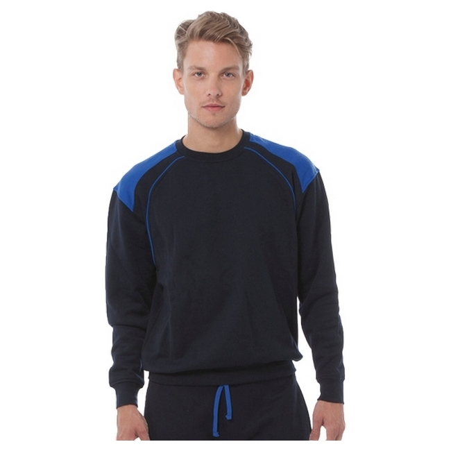 Толстовка 'JHK' 'RIVER SWEAT' NAVY - ROYAL BLUE